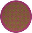 rug #111729 | round pink borders rug
