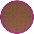 rug #111729 | round light-green borders rug