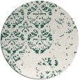 rug #1117290 | round blue-green traditional rug