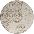 rug #1117310 | round mid-brown damask rug