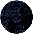 rug #1117354   round black damask rug
