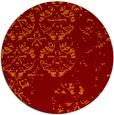 rug #1117358 | round orange faded rug