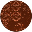 rug #1117370 | round orange graphic rug