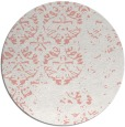 rug #1117386 | round white traditional rug