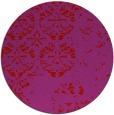 rug #1117418 | round red damask rug