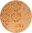 rug #1117426 | round red-orange damask rug