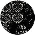 rug #1117442 | round black faded rug