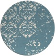 rug #1117462 | round white faded rug