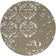 rug #1117466 | round white faded rug