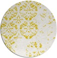 rug #1117478 | round white faded rug