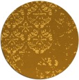 rug #1117482 | round light-orange graphic rug