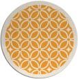 rug #111749 | round light-orange borders rug
