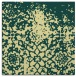 rug #1118222 | square blue-green faded rug