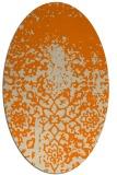 rug #1118258 | oval orange faded rug
