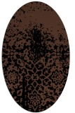 rug #1118274 | oval black traditional rug