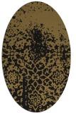 rug #1118286 | oval black natural rug