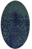 rug #1118298 | oval blue-green rug