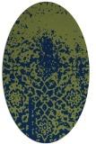 rug #1118302 | oval green traditional rug