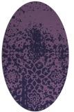 rug #1118358   oval purple traditional rug