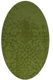 rug #1118386 | oval green traditional rug