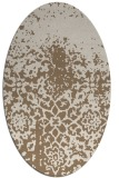 rug #1118414 | oval mid-brown natural rug