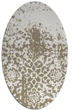 rug #1118418 | oval white faded rug