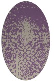 rug #1118442 | oval purple rug