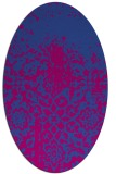rug #1118457 | oval graphic rug
