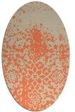 rug #1118470 | oval orange graphic rug
