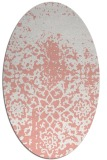 rug #1118490 | oval white faded rug