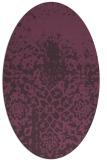 rug #1118494   oval purple traditional rug