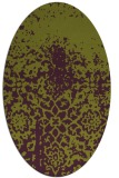 rug #1118498 | oval purple graphic rug