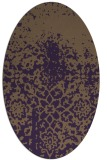rug #1118502 | oval mid-brown natural rug