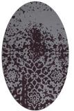 rug #1118506 | oval purple faded rug