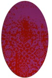 rug #1118522 | oval red traditional rug