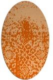 rug #1118530 | oval red-orange traditional rug