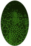 rug #1118542 | oval green traditional rug
