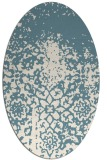 rug #1118566 | oval white faded rug
