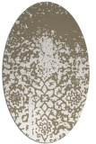 rug #1118570 | oval white faded rug