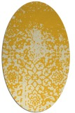 rug #1118574 | oval yellow faded rug