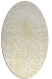 rug #1118578 | oval yellow natural rug