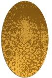 rug #1118586 | oval yellow graphic rug