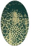 rug #1118590 | oval yellow faded rug