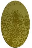 rug #1118594 | oval light-green rug