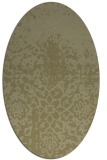 rug #1118598 | oval light-green rug