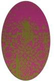 rug #1118602 | oval pink graphic rug