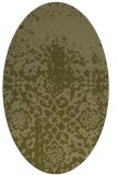 rug #1118606 | oval light-green rug
