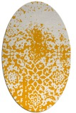 rug #1118610 | oval light-orange popular rug