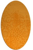 rug #1118618 | oval light-orange traditional rug