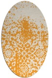 rug #1118622 | oval white faded rug